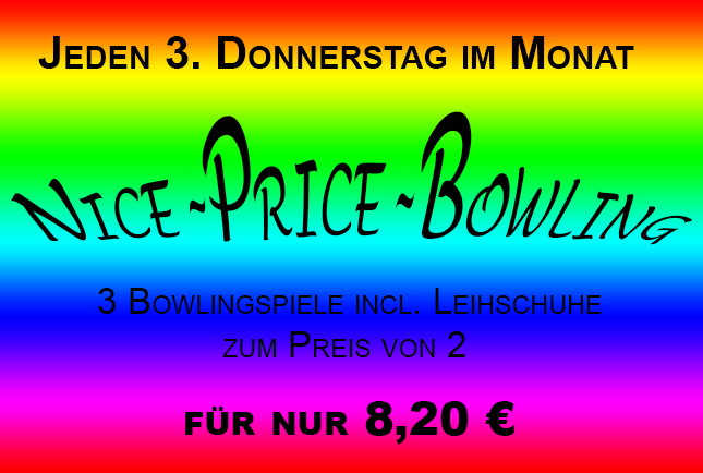 Nice Price Bowling im City Bowling Center